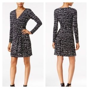 Calvin Klein Faux Wrap Dress